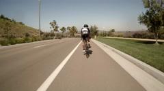 San Diego bike race pov 8 Stock Footage