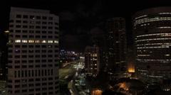 Timelapse sydney cbd night time cars Stock Footage