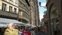 Maison Kammerzell Cathedral France  Strasbourg Alsace, France Cathedral Tourist, Stock Footage