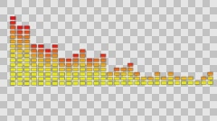 Computer generated equalizer display with alpha channel Stock Footage