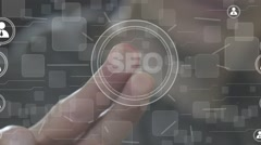 Business button SEO communication group icon Stock Footage
