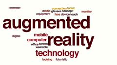 Augmented reality animated word cloud. Stock Footage