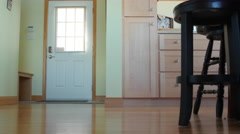 Dolly shot of beautiful entryway in cootage home Stock Footage