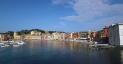 The Silent Bay in Sestri Levante. Stock Footage