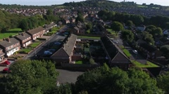 Aerial view of a housing estate in Dudely, West Midlands. Stock Footage