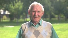 Smile of senior man. Arkistovideo
