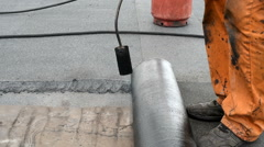 Installation waterproofing membrane Stock Footage