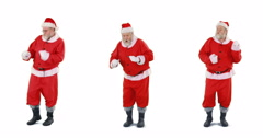 Santa claus dancing and performing various activity Stock Footage