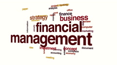 Financial management animated word cloud. Stock Footage