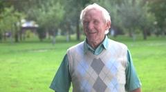 Old man is talking. Stock Footage