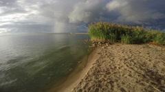 Coast of Curonian Lagoon, 4K Stock Footage