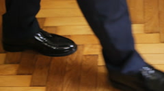The shoes of young groom Stock Footage
