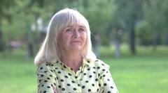 Sad senior woman. Stock Footage
