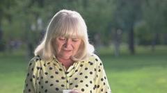 Senior woman crying. Stock Footage