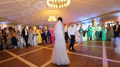 First dance bride in a restaurant Stock Footage