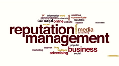 Reputation management animated word cloud. Stock Footage