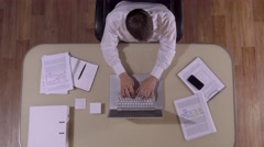 Businessman in his private office preparing for the meeting Stock Footage