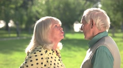 Senior couple arguing. Stock Footage