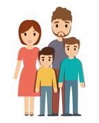 Parents and son family design Stock Illustration