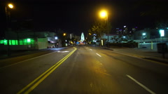 4K Driving Plates LA Chinatown Night 02 Front View Broadway West bound at Ces Stock Footage