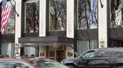 Park Lane Hotel Manhattan Stock Footage