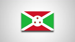 4K - Burundi country flag Stock Footage