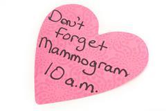 Mammogram Reminder Kuvituskuvat