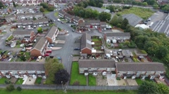 Aerial view of a residential area in Dudley Wood, UK. Stock Footage