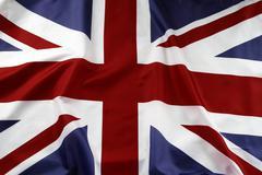 Closeup of Union Jack flag Stock Photos