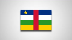 4K - Central African Republic country flag Stock Footage