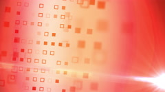 Abstract red squares flow  animation Stock Footage