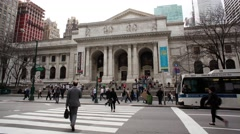 New York Public Library Timelapse New York City Stock Footage