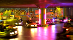 The race on the Bumper cars at the amusement Park Linnanmäki. Stock Footage