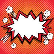 Retro and Pop art bubble design Stock Illustration
