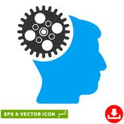 Head Gearwheel Vector Eps Icon Stock Illustration
