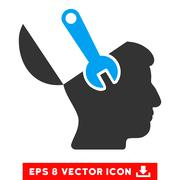 Mind Wrench Surgery Vector Eps Icon Stock Illustration