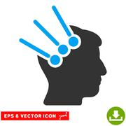 Neural Interface Connectors Vector Eps Icon Stock Illustration