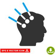 Neural Interface Vector Eps Icon Stock Illustration