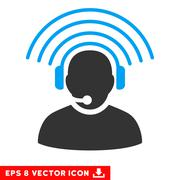 Operator Radio Signal Vector Eps Icon Stock Illustration