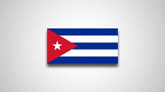 4K - Cuba country flag Stock Footage
