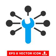 Service Wrench Relations Vector Eps Icon Stock Illustration