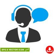 Support Manager Message Vector Eps Icon Stock Illustration