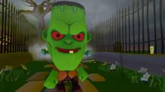 Halloween Frankenstien Stock Footage