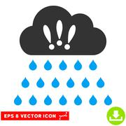 Thunderstorm Rain Cloud Vector Eps Icon Stock Illustration