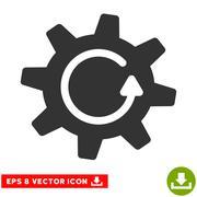 Cogwheel Rotation Direction Vector Eps Icon Stock Illustration