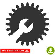 Gear Tools Vector Eps Icon Stock Illustration