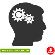 Head Wheels Rotation Vector Eps Icon Stock Illustration