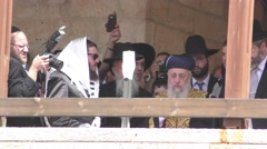 Yitzhak Yosef, the Sephardi Chief Rabbi of Israel, AKA the Rishon LeZion Stock Footage