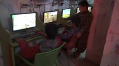 Syria, Kobani - February, 2016: Computer war games, SDF,ISIS war, SDF – YPJ,YPG Stock Footage