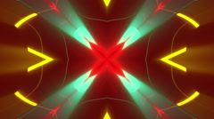 Red abstract background, moving colorfull lines, loop Stock Footage